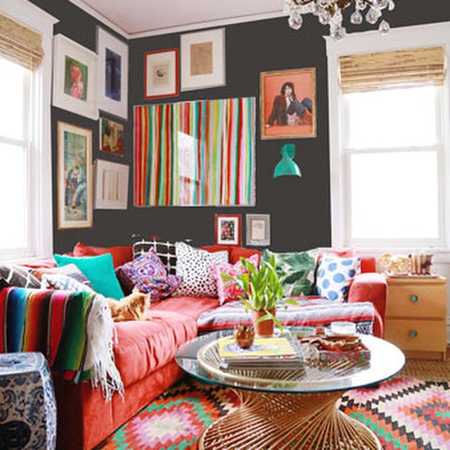 -*+Thinking about painting my living room super dark. Almost black.…