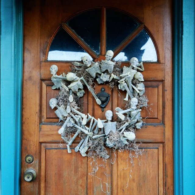 Check out the spooky skeleton wreath I made for etsyhellip