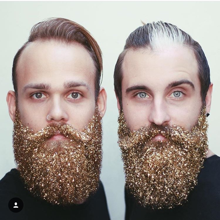 Glitter beards! They call this look lumbersexual hubbabubba Also Dohellip