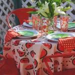 Easy Watermelon Tablecloth
