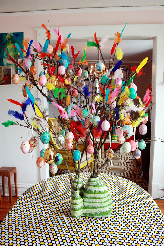 Swedish easter tree aunt peaches How to make an easter egg tree