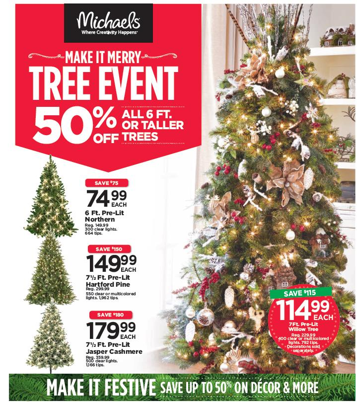 Tree event creative