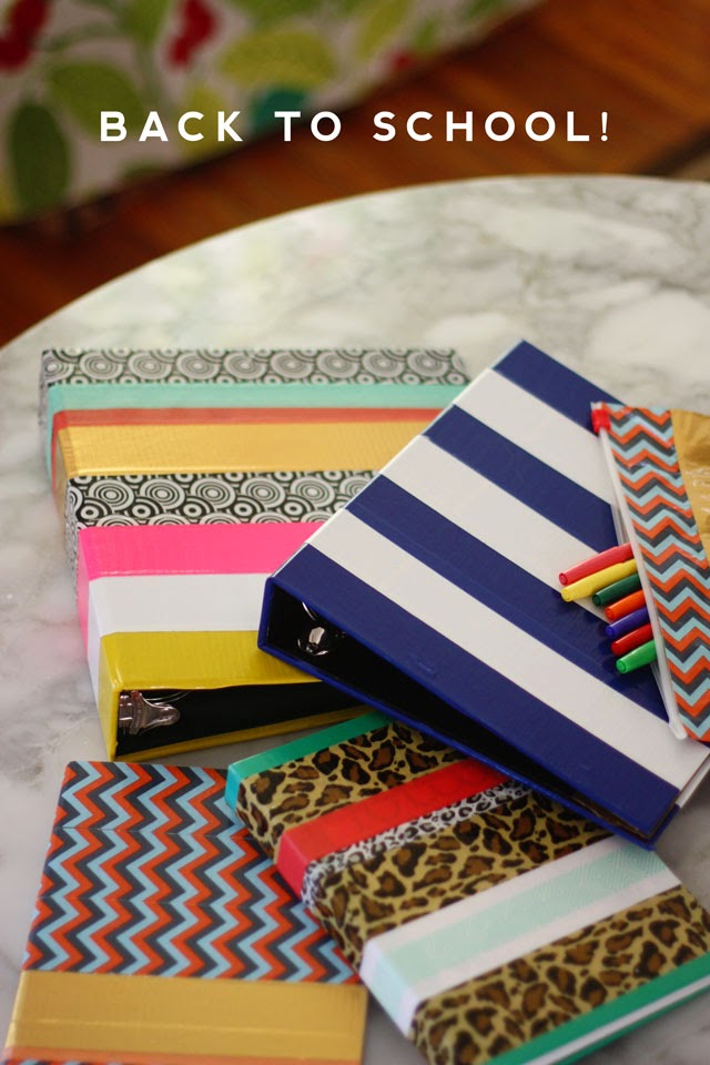 School Supply Makeover With Tape Aunt Peaches