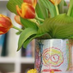 Friday Flowers: Children's Art Vase