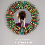 Two Tone Clothespin Mirror