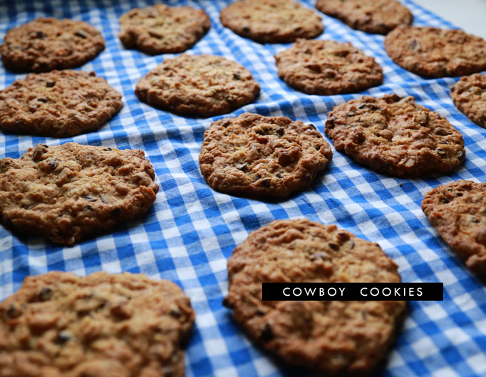 Laura Bush Cowboy Cookies - Aunt Peaches