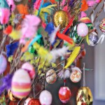 Easter Decorations: AKA Let's Put Feathers Where They Do Not Belong