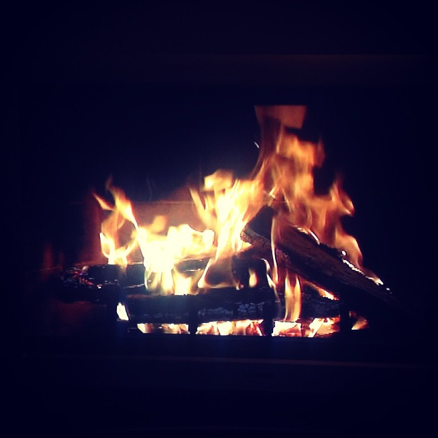 Cumulative snowfall = open season on the yule log. #qualitytelevision