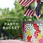 Fingerprint Painted Party Bucket