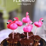 Flamingo Cake Toppers for Under A Buck