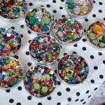 Sequin Mason Jar Lid Ornaments