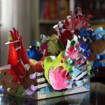 Jive Turkey: Kid's Art Turned into a Seriously Cool Thanksgiving Centerpiece