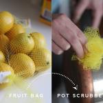 Bag of Tricks: Fruit Sack Pot Scrubber