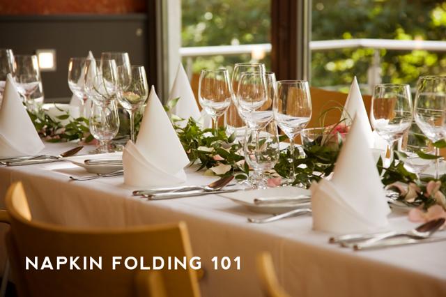 Napkin Folding 101 Aunt Peaches