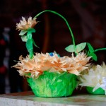 Friday Flowers: Coffee Filter Easter Baskets in Bloom