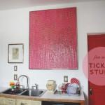 Big Pinky: Ticket Stub Art