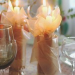 Wax Paper Pillar Candles