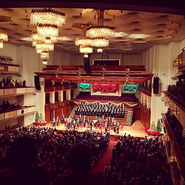 Handel's Messiah at the Kennedy Center. This is Christmas. And the chandelier situation is unreal!