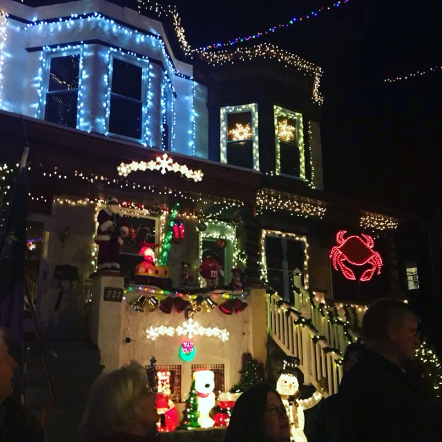 Additional greetings from Baltimore's Hampden neighborhood. Home to John Waters, the fried chicken on a waffle sandwich, and an impressive collection of light-up flamingos!
