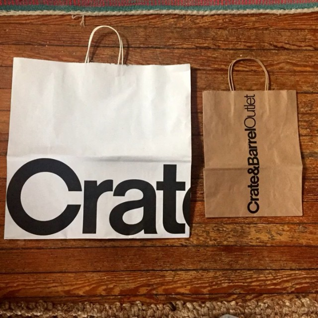These @crateandbarrel shopping bags never saw it coming.
