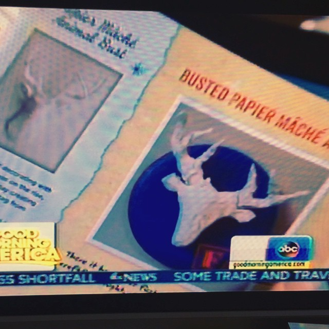 There is no better way to start the day than watching my pal Heather @dollarcraft kick butt on Good Morning America. #mazel #craftfail (PS: get her book! It's great! And my drunk tissue paper flowers are in it!)