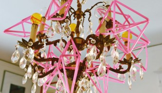 Pink-geometric-ornaments-chandelier featured