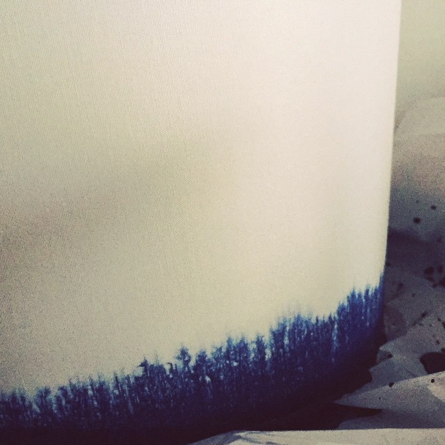 Currently watching fabric dye creeping up a lampshade. You know this is exactly how Beyonce spends her Saturday.