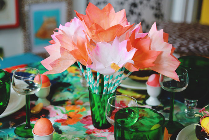 Coffee-filter-tulips-coral-easter-dye
