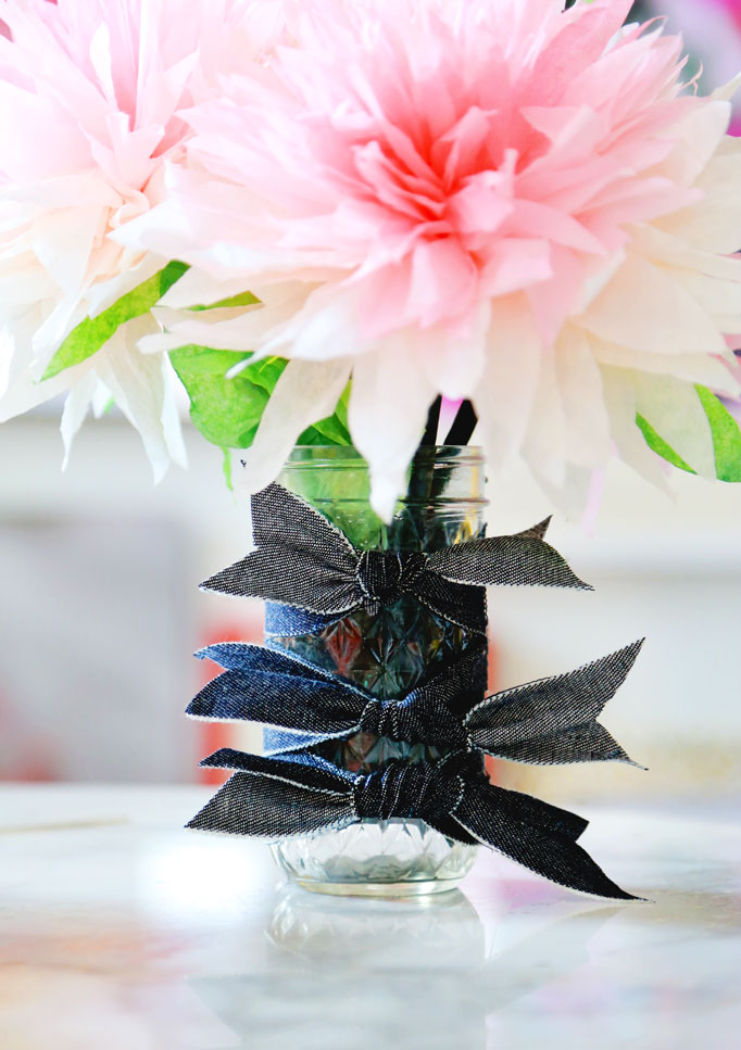denim-vase-ribbon-bows-