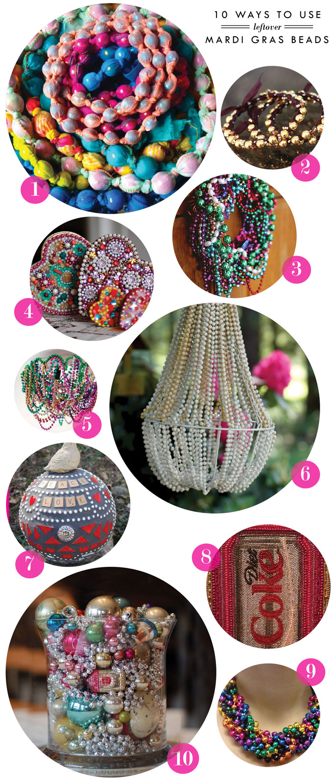 Craft time: 10 Ways to use leftover mardi gras beads
