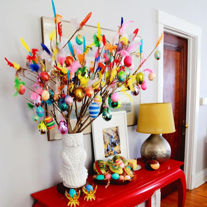 DIY Paskris Easter TreeAunt Peaches