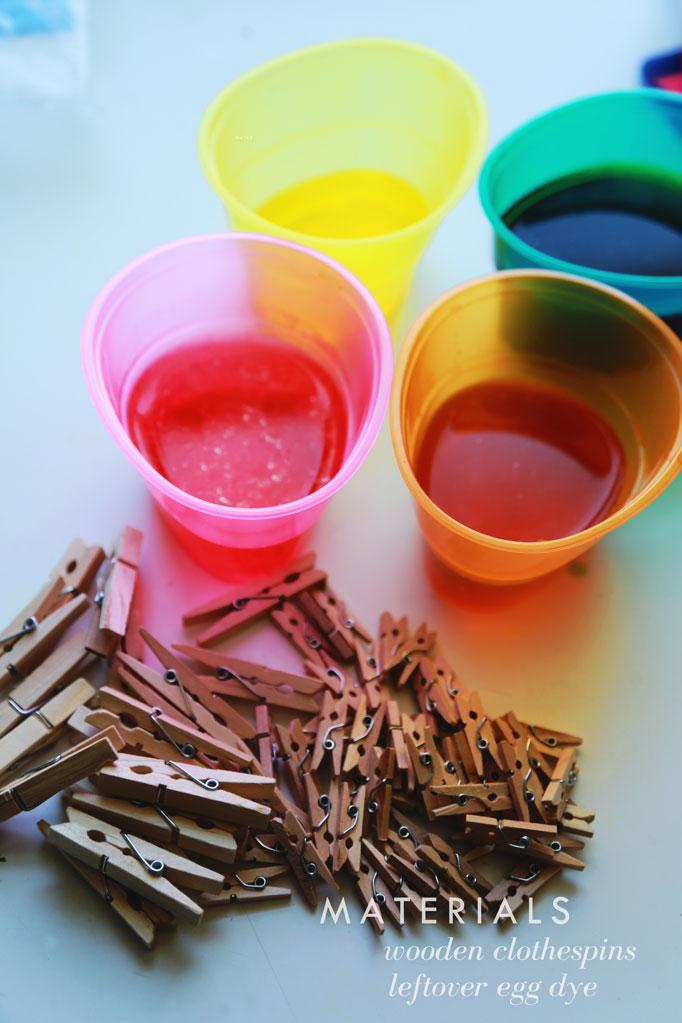 dye-clothespins