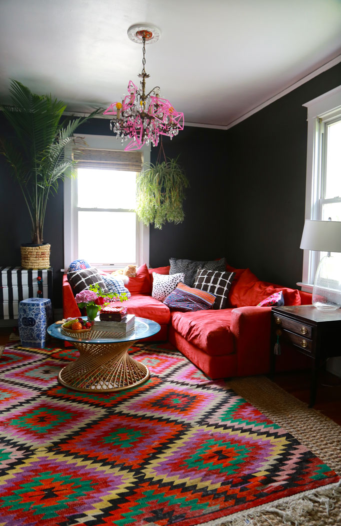 Behr Ed Pepper Black Paint Livingroom