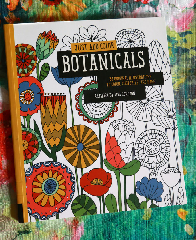 Adult Coloring Book Botanicals Lisa Congdon