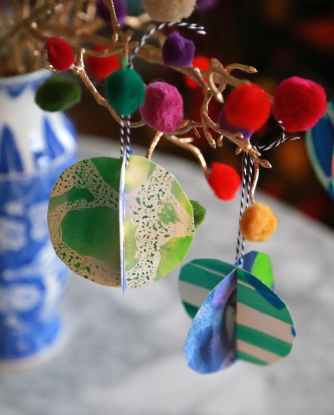 art scrap ornaments
