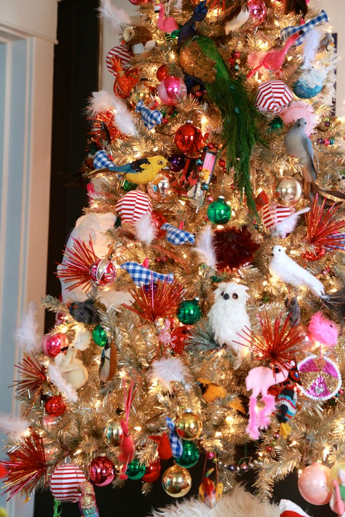 bird flamingo tree tinsel treetopia
