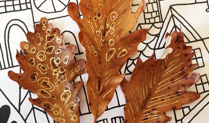 metalic-leaves