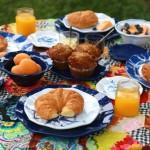 outdoor breakfast picnic
