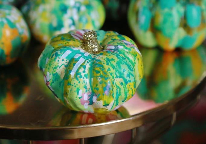 painted pumpkin green