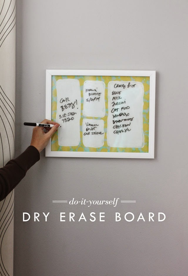 Diy Dry Erase Board Aunt Peaches