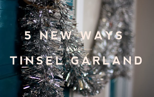 Five New Ways To Use Tinsel Garland Aunt Peaches: how to decorate a christmas tree without tinsel